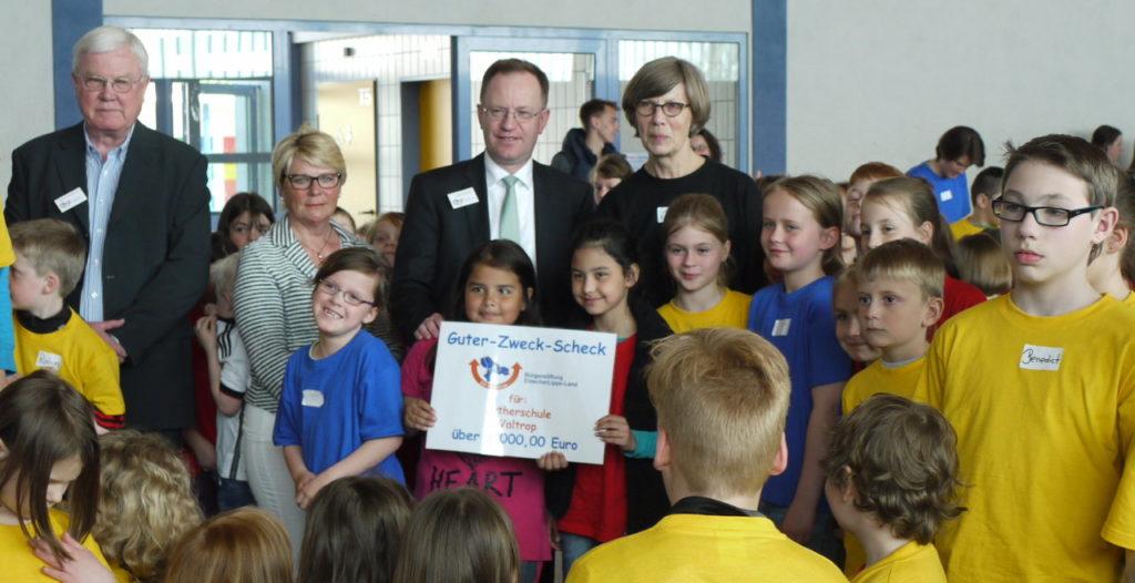 Bürgerstiftung EmscherLippe-Land unterstützt Musicalaufführung der Lutherschule