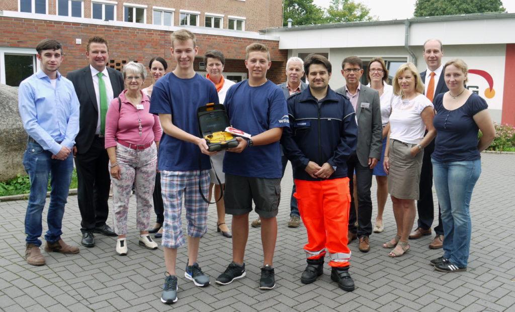 Team der Bürgerstiftung EmscherLippe-Land erläuft 3. Defibrillator