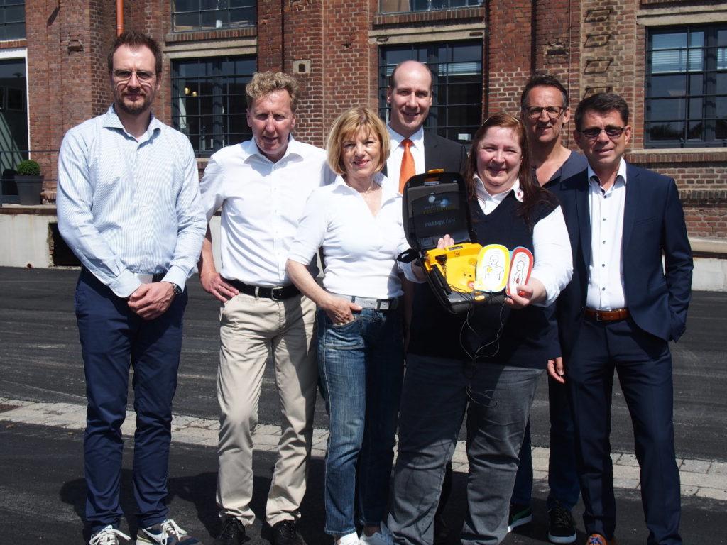 Bürgerstiftung EmscherLippe-Land läuft für den 7. Defibrillator beim AOK-Firmenlauf