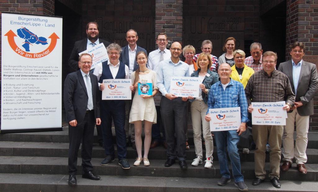 Bürgerstiftung EmscherLippe-Land spendete 6.000 Euro für Projekte in der Region