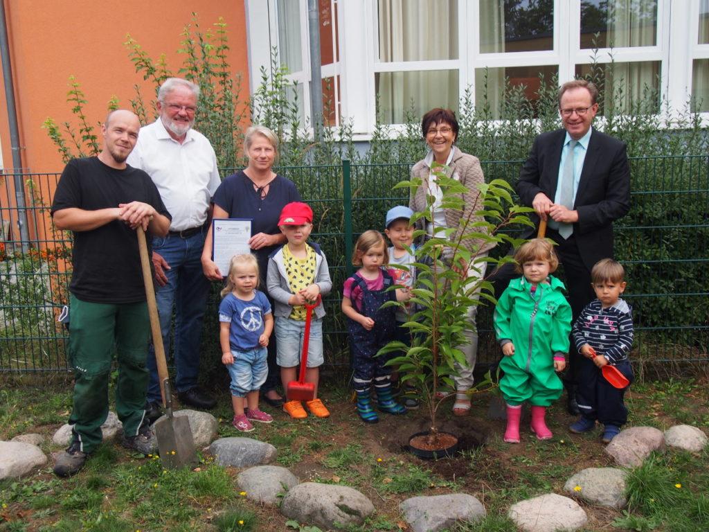 Kindergarten St. Franziskus freut sich auf frische Äpfel dank der Bürgerstiftung EmscherLippe-Land