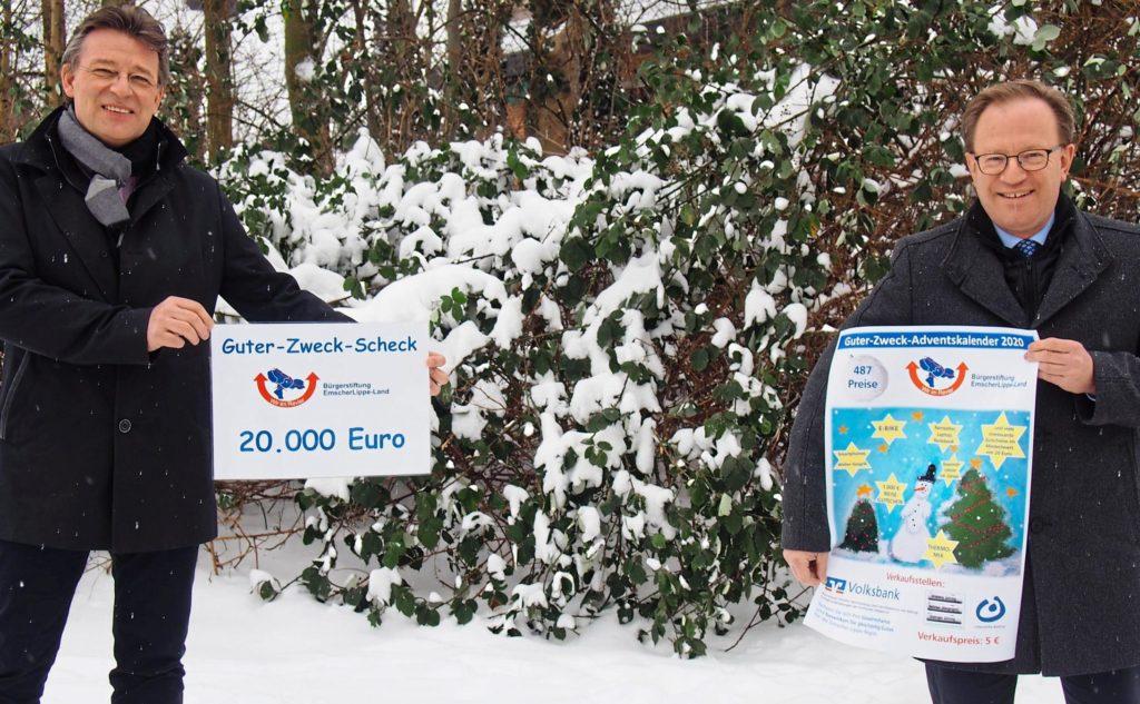 Bürgerstiftung EmscherLippe-Land erwärmt die Herzen in kalter Jahreszeit mit 20.000Euro